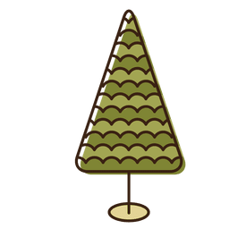 Christmas tree cartoon icon 2