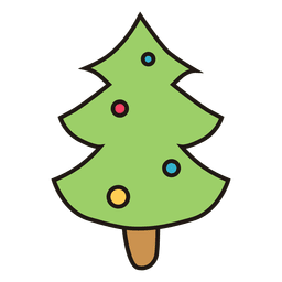 Christmas tree cartoon icon 27