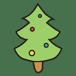 Ícone dos desenhos animados da árvore de Natal 27