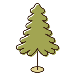 Christmas tree cartoon icon 4