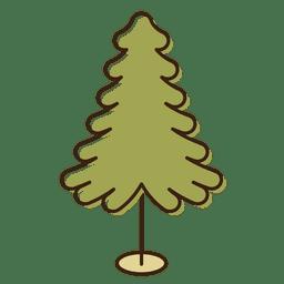 Ícone dos desenhos animados da árvore de Natal 4