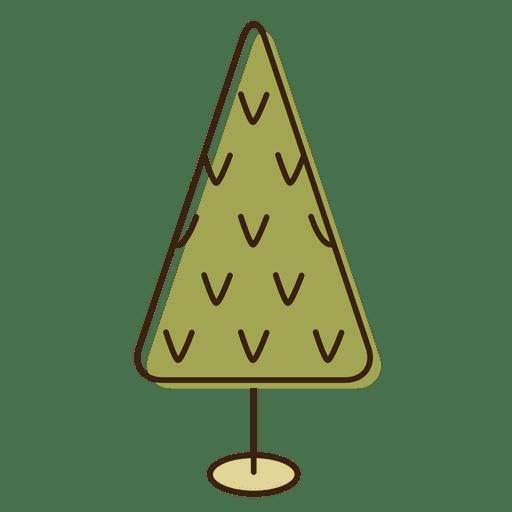 icono de dibujos animados de rboles de navidad
