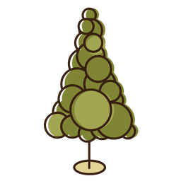 Christmas tree circles cartoon icon 1