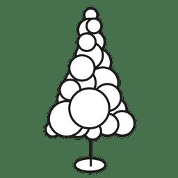 Ícone de traçado de círculos de árvore de Natal 20