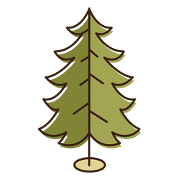 Árvore de Natal enrolado ícone dos desenhos animados de ramos 14