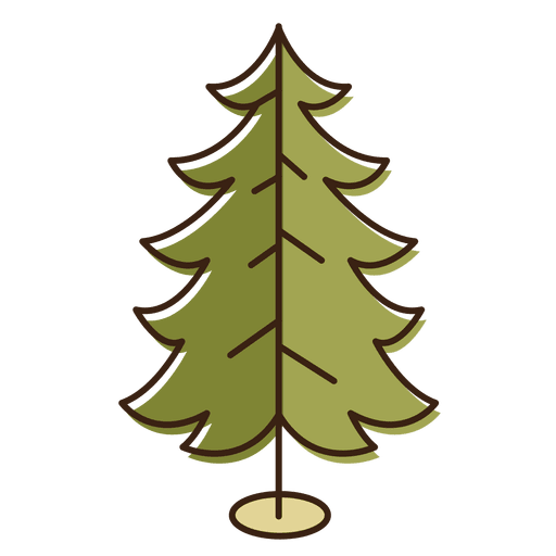 Christmas Tree Curled Branches Cartoon Icon 14
