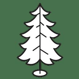 Árbol de navidad rizado ramas icono de trazo 30