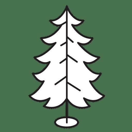 Árbol de navidad rizado ramas icono de trazo 30 Transparent PNG