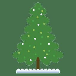Decoración De Dibujos Animados De árbol De Navidad