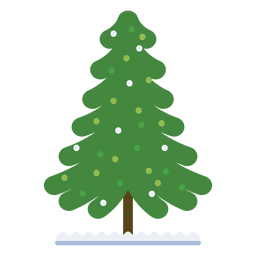 Árvore de Natal decorada ícone plana 32