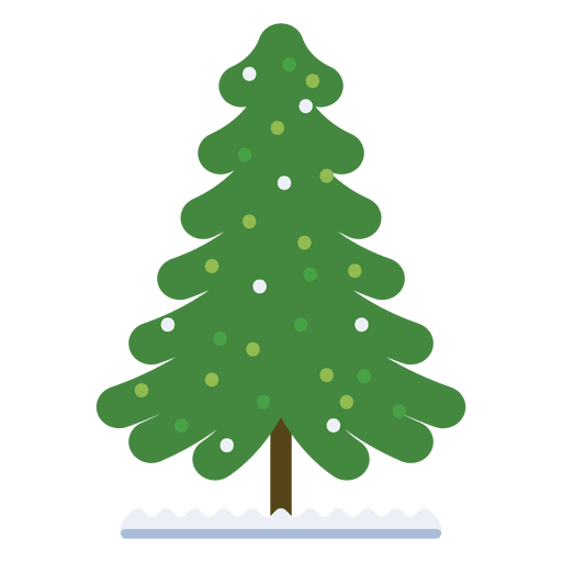 Christmas Tree Decorated Flat Icon 32 Transparent PNG