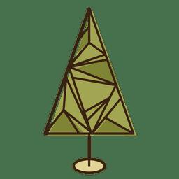 árbol de navidad icono de dibujos animados geométrica 5