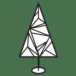 Christmas tree geometric stroke icon 22