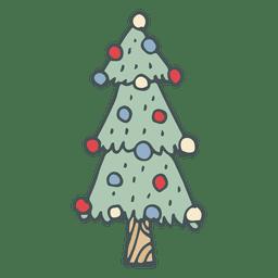 Mão de árvore de Natal extraídas ícone dos desenhos animados 46