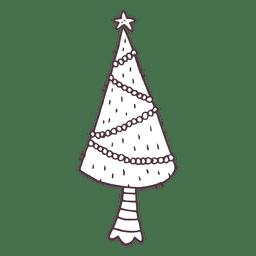 Christmas tree hand drawn icon 11