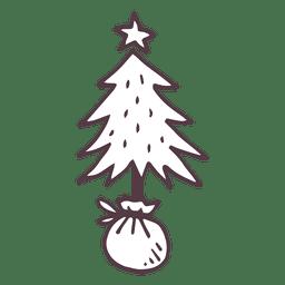 Navidad árbol dibujado a mano icono de 2