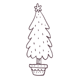 Christmas tree hand drawn icon 29