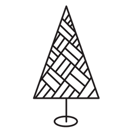Christmas tree hatched stroke icon 26