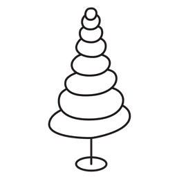 Christmas tree oval stroke icon 27