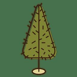 Christmas tree prickly cartoon icon 3