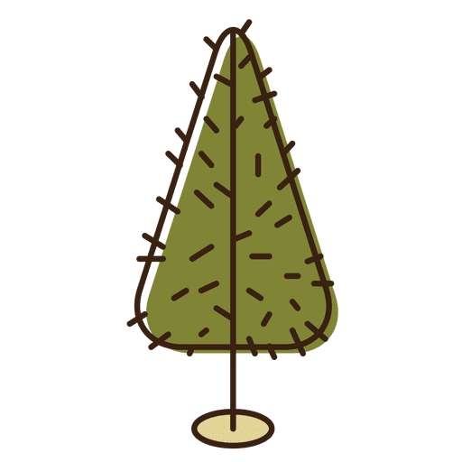 Christmas Tree Prickly Cartoon Icon 3 Transparent PNG