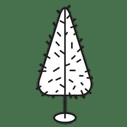 Christmas tree prickly stroke icon 21