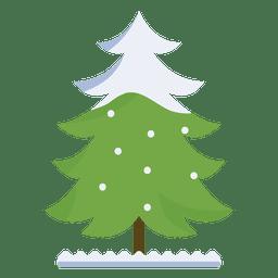 Árbol de Navidad nevado rizado icono de rama 36