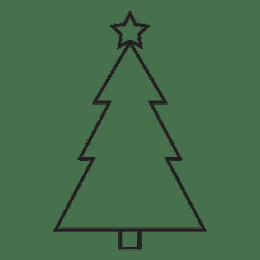 Christmas tree stroke icon 87
