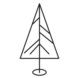 Christmas tree stroke icon 17