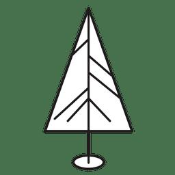 Ícone de traçado da árvore de Natal 17