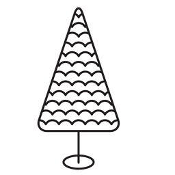 Christmas tree stroke icon 19