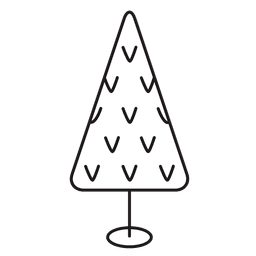 Christmas tree stroke icon 24