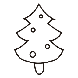Christmas tree stroke icon 39