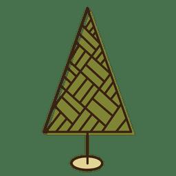 Christmas tree textured cartoon icon 15