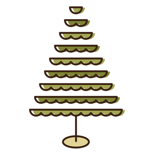 rbol de navidad icono de dibujos animados con gradas png