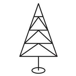Christmas tree trangles stroke icon 29