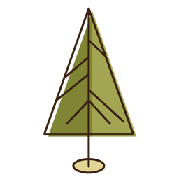 Christmas tree triangle cartoon icon 11
