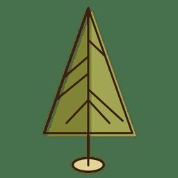 Ícone de desenho de triângulo de árvore de Natal 11