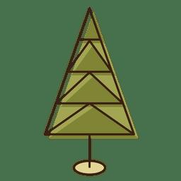 Christmas tree triangles cartoon icon 8