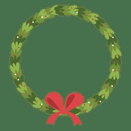 Christmas wreath bow icon 2