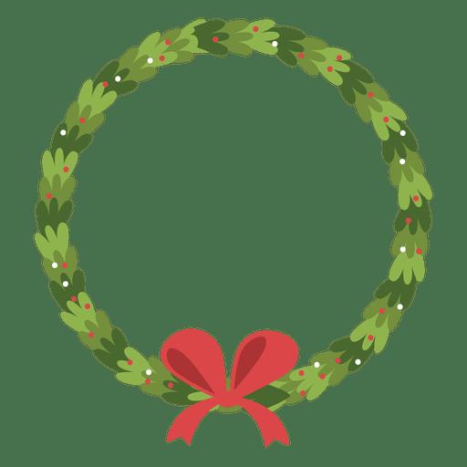 Ícone de arco de grinalda de Natal 2 Transparent PNG