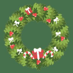 Guirnalda de Navidad arcos cajas de goft dulces bastones icono 11