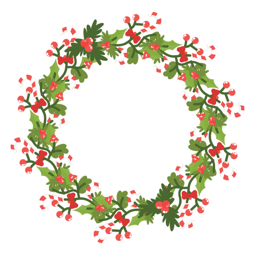 Christmas wreath candy canes icon 14 Transparent PNG