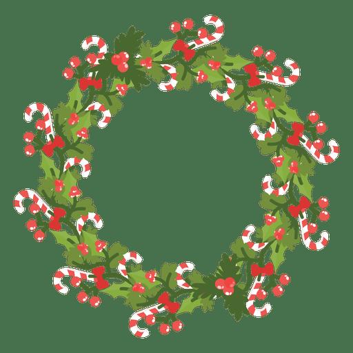 Corona de Navidad icono de bastones de caramelo 14