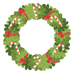 Christmas wreath candy canes red bows icon 4