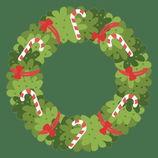 Guirnalda de Navidad bastones de caramelo arcos rojos icono 4 Transparent PNG