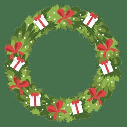 Ícone de arcos de caixas de presente de grinalda de Natal 7