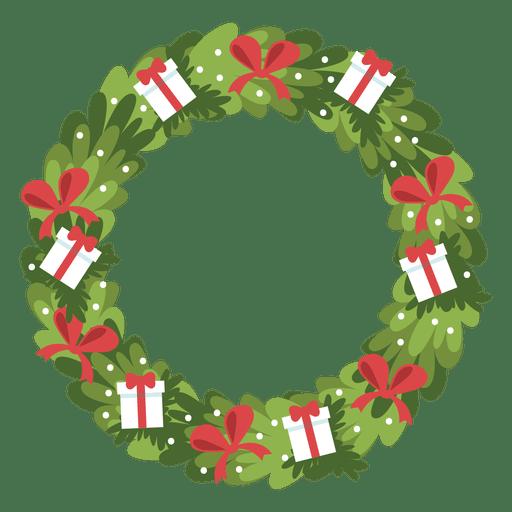 Ícone de arcos de caixas de presente de grinalda de Natal 7 Transparent PNG