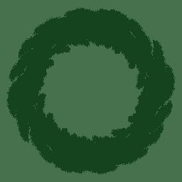 Guirnalda de Navidad verde silueta 18