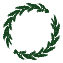 Christmas wreath green silhouette 20